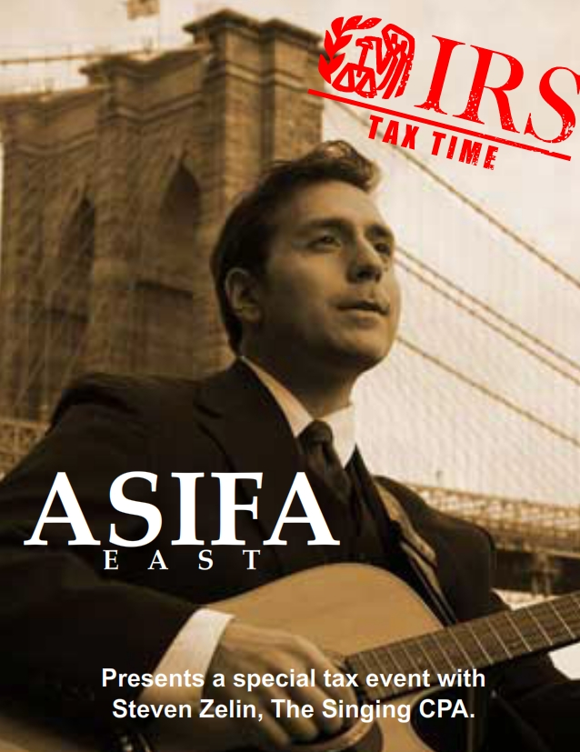ASIFA-East Presents Taxes for Freelancers with Steven Zelin, The Singing CPA