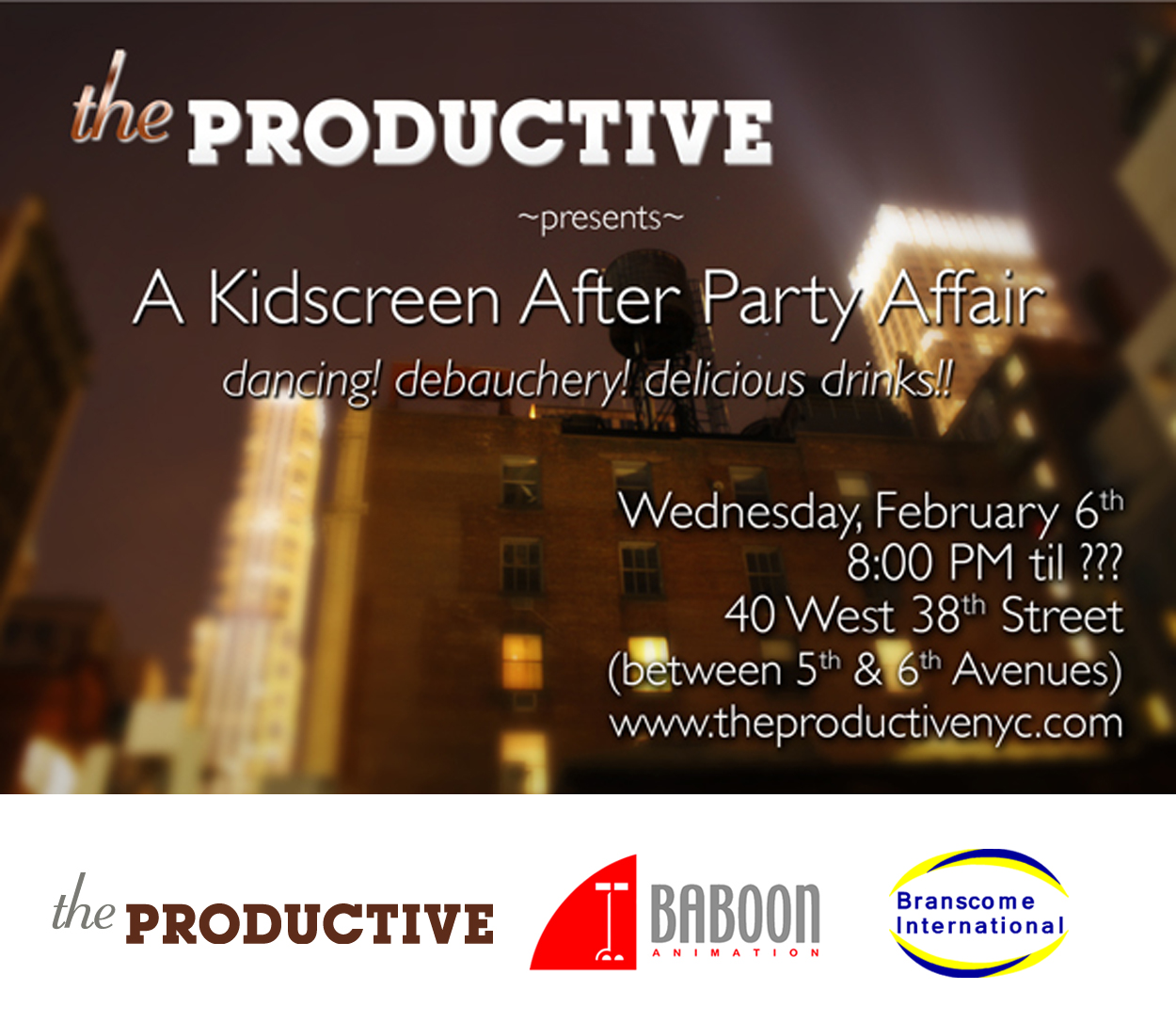 Kidscreen Party at The Productive
