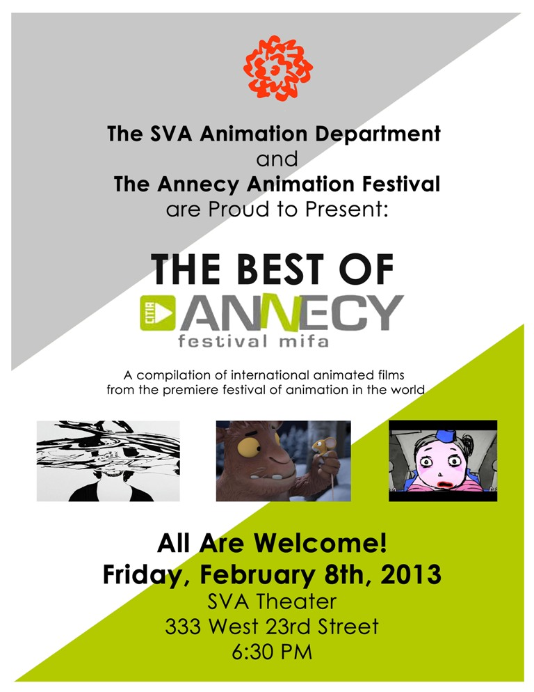 Best of Annecy Program at SVA this Friday!
