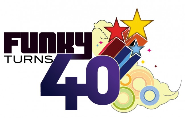 Funky Turns 40 Color Logo