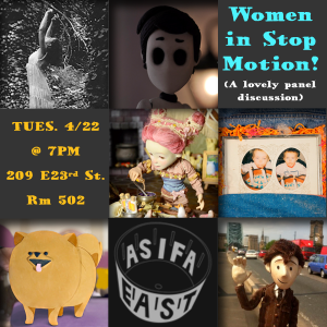 ASIFA-East Presents Women in Stop-Motion! @ School of Visual Arts - Rm 502 | New York | New York | United States