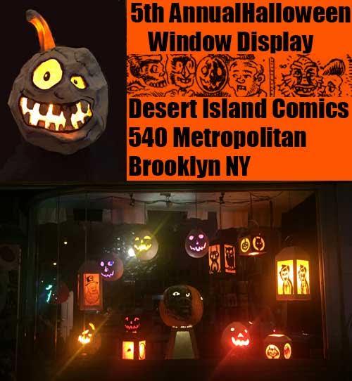 Desert Island: Halloween Window by Gary Leib