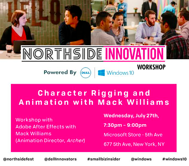 Northside Innovation Workshop: Character Rigging and Animation @ Microsoft Store | New York | New York | United States