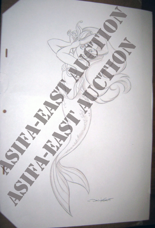 Asifa East Animation Art Auction Teaser Original Little Mermaid